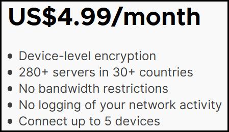Mozilla VPN details