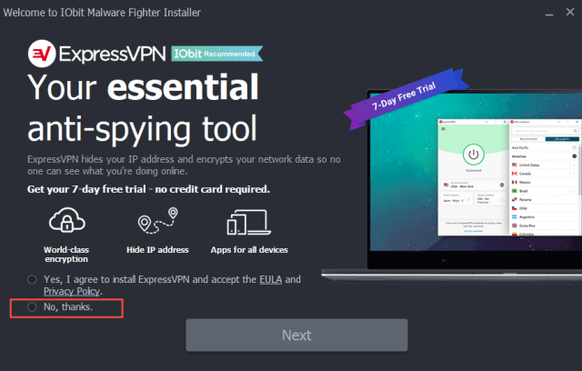 iobit malware fighter installation optional extra