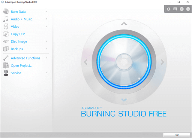 Ashampoo Burning Studio Main Interface