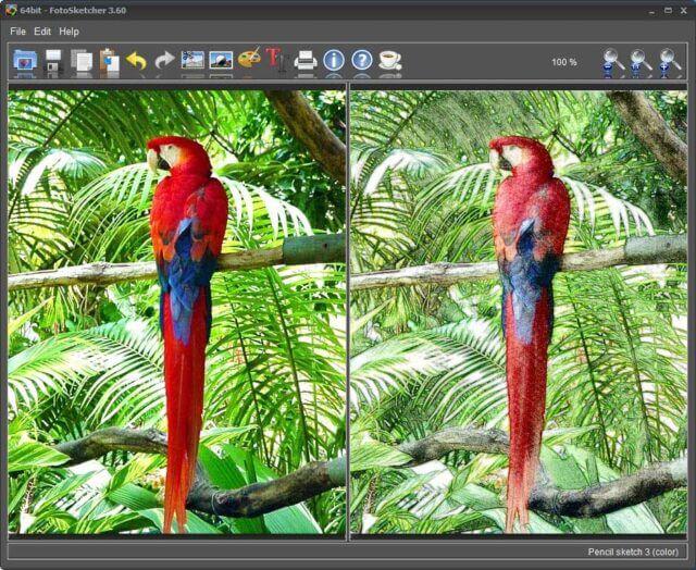 FotoSketcher Interface