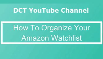 Organize Amazon Watchlist