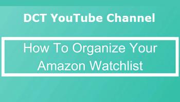 Organize Amazon Watchlist