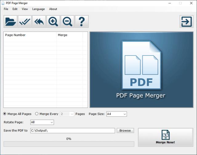 PDF Page Merger Pro Interface