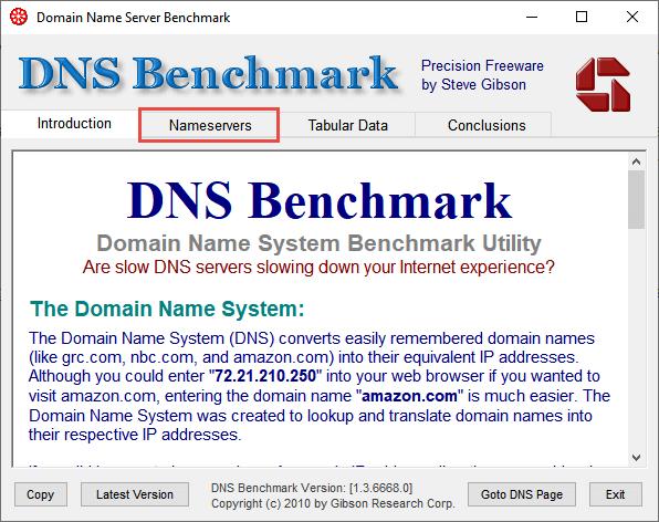 DNSBench Step1 Nameservers
