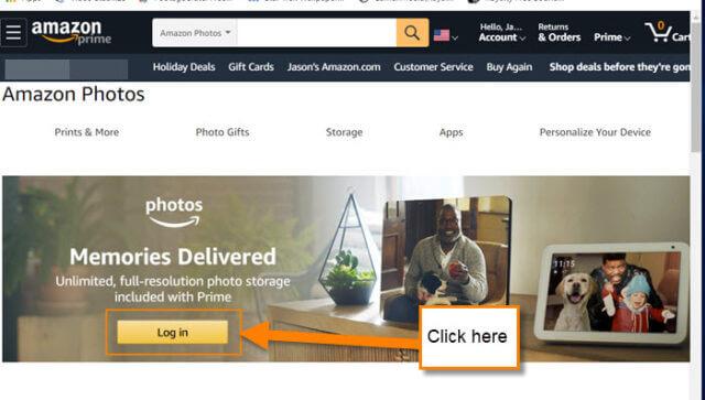 amazon-photos-log-in-button