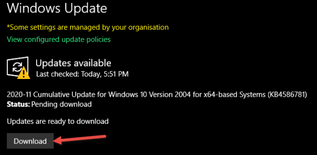 Windows Updates Ready to Download