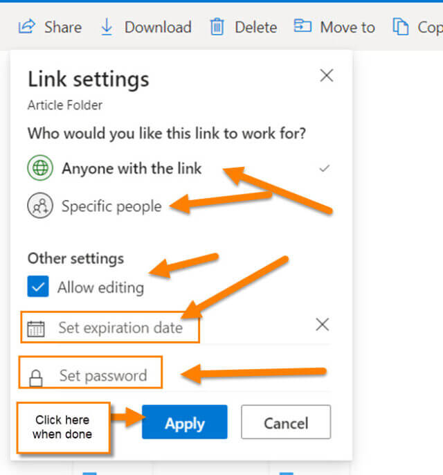 link-settings-window