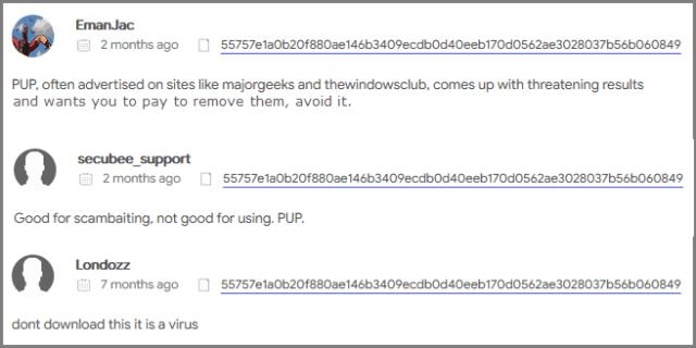 Restoro Virus Total Community Comments