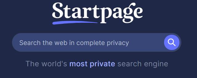 Startpage Search Engine