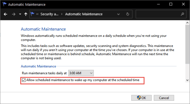 Automatic Maintenance Schedule