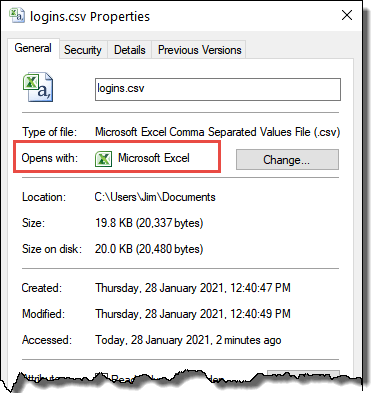 CSV File Opens With