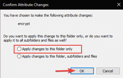 Confirm Changes