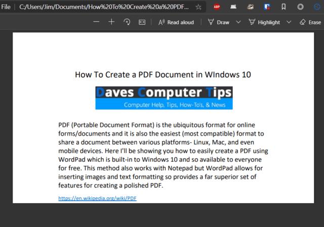 Example PDF Document