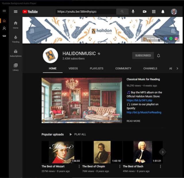 youtube-music-player-main-screen