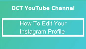 Edit Instagram Profile Feature