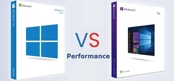 Windows10 Home versus Pro Performance