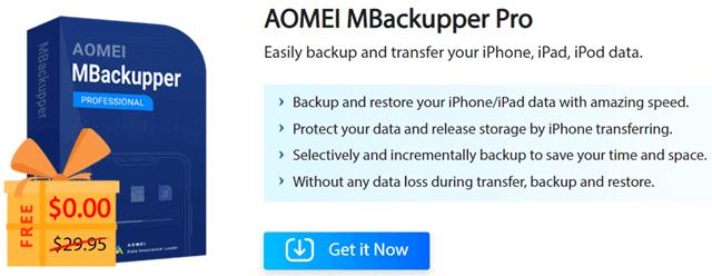 Aomei MBackupper Pro Giveaway