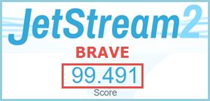 Brave JetStream Test