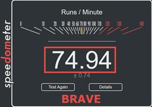 Brave Speedometer Test