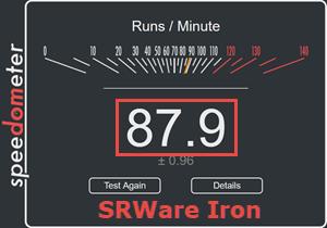 SRWare Speedometer Test