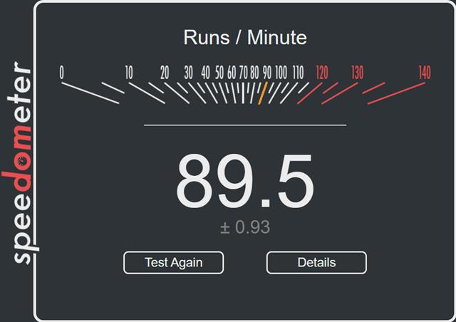 Speedometer Test Chrome
