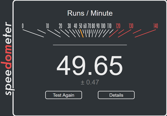 Speedometer Test Firefox