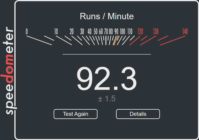 Speedometer Test Edge