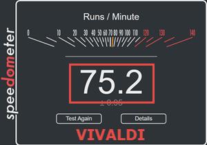 Vivaldi Speedometer Test