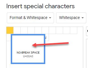 no-break-space