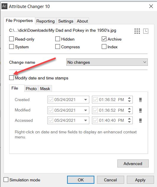 check-modify-date