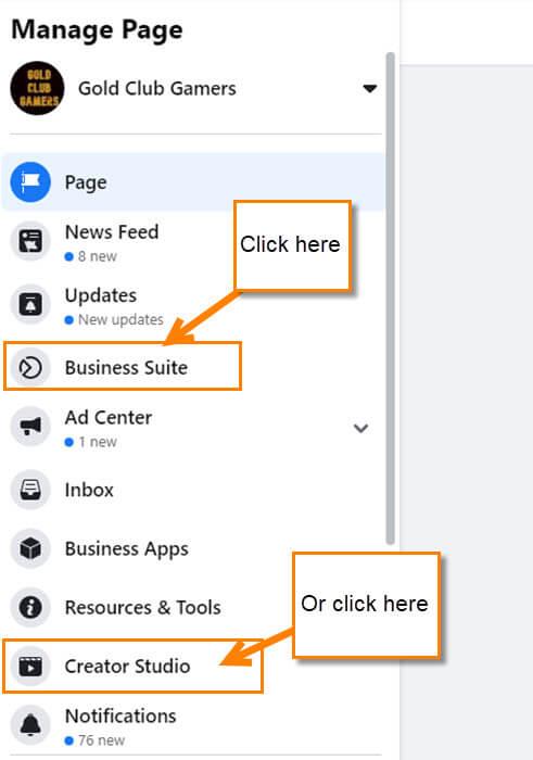 facebook-page-menu