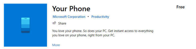 your-phone-app-in-microsoft-store