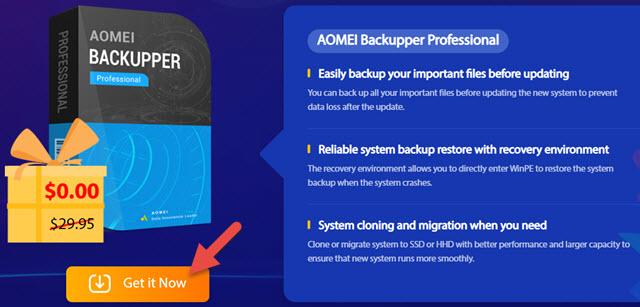 Aomei Backupper Pro Giveaway