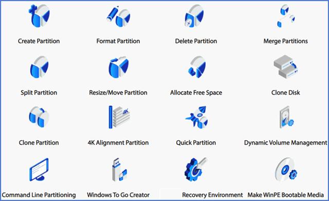 Aomei Partition Assistant Pro Features