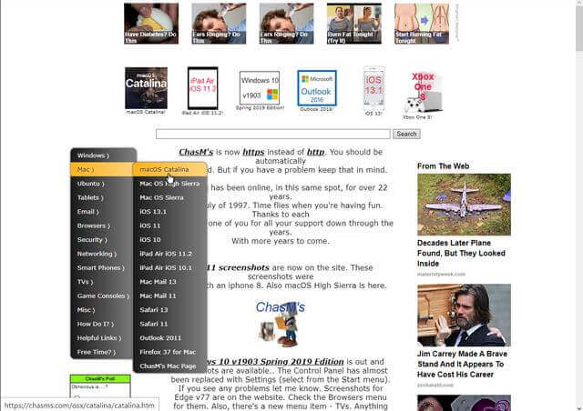 chasms.com-homepage-simulator-options