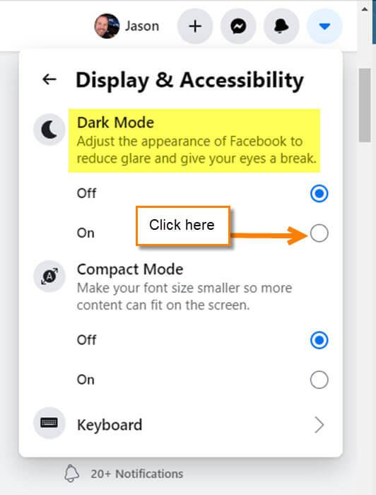 facebook-dark-mode-option