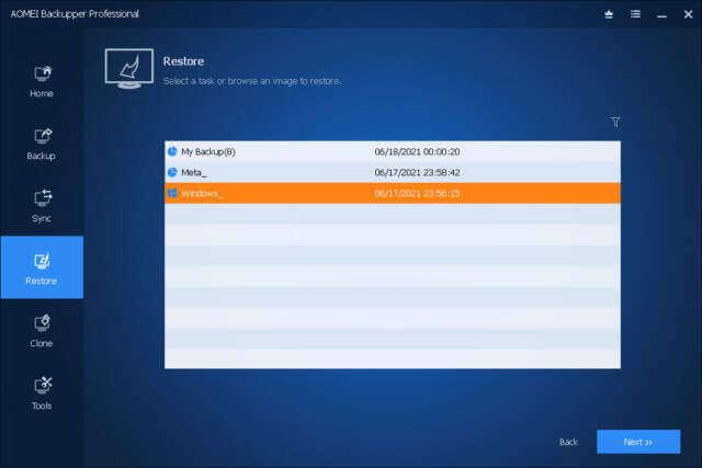 backupper-select-task