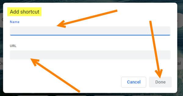 add-shortcut-window