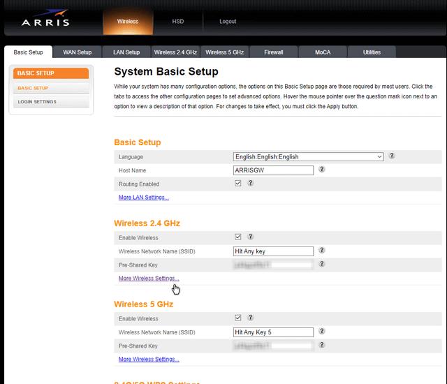 arris-basic-setup-page