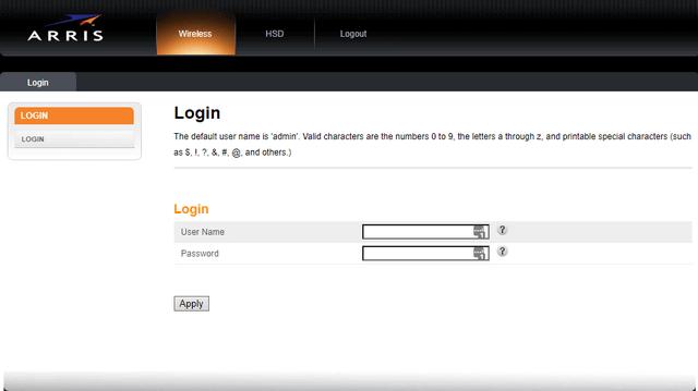 arris-login-page