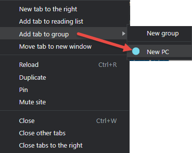 Chrome Add Tabs to Group