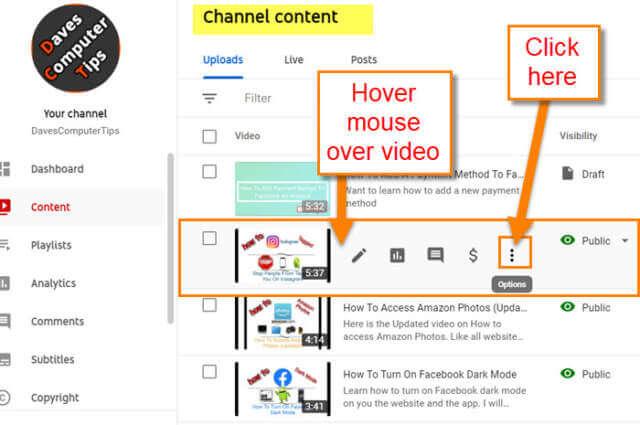 video-options-menu