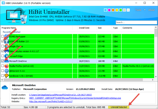 Hibit Uninstall Multiple Programs