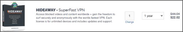 Hideaway VPN Pricing