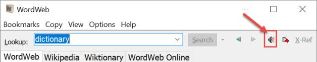 WordWeb Audio Feature
