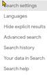 google-settingss option