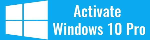 Activate Windows10 Pro