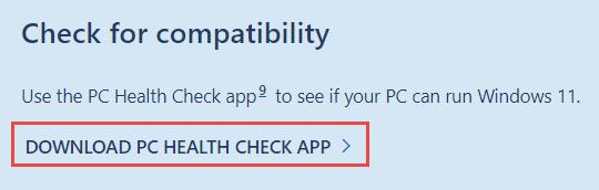 Download PC Health App