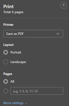 Gmail Printer Settings