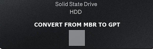 MBR2GPT Convert Drive